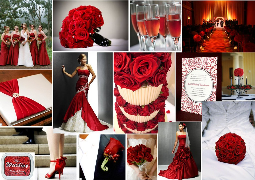 Red Roses Wedding Theme For More Stylish Creative Weddin