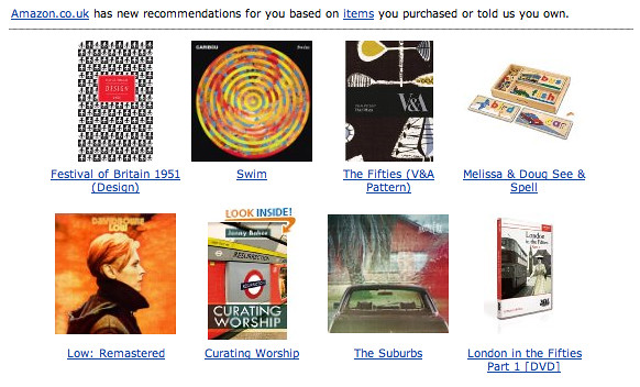 amazon recommends