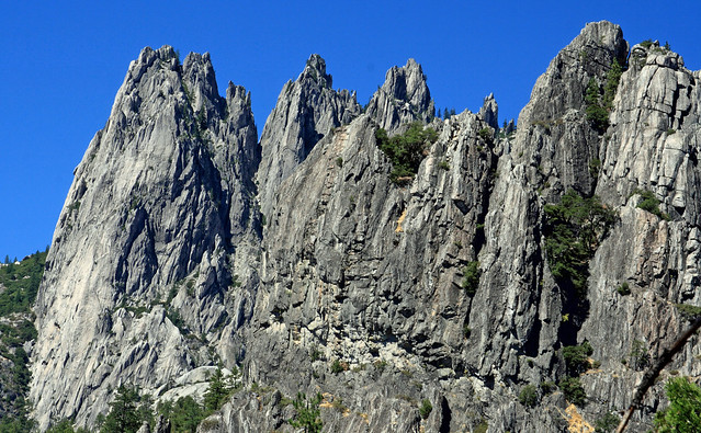 Cool view of the crags in Castle Crags State Park