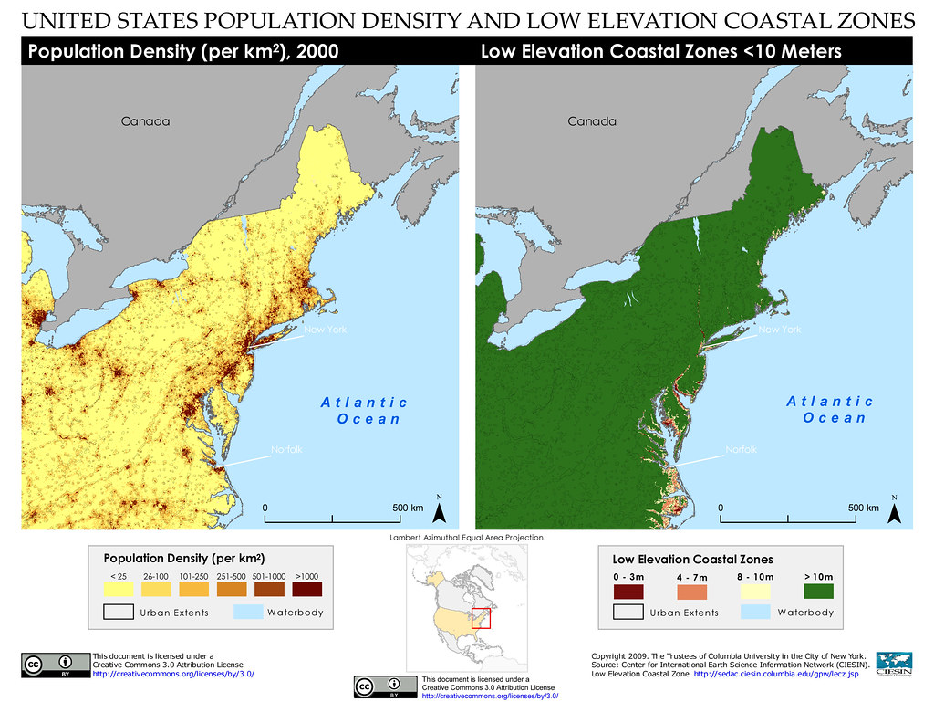 Map Of America By Population Density.Northeastern United States Of America Population Density Flickr