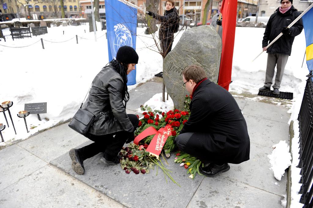 Hedersvakt till minne av Olof Palme
