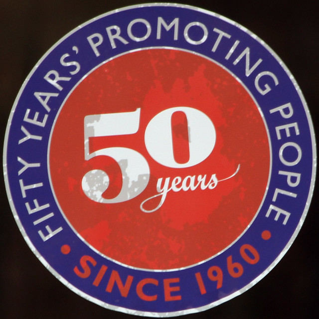 FIFTY YEARS' PROMOTING PEOPLE SINCE 1960 - 50 years