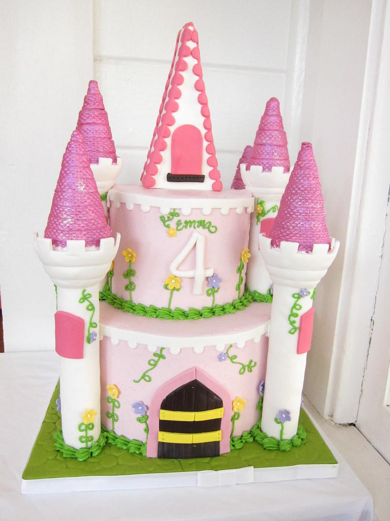 Marvelous Princess Castle Birthday Cake Polkadots Olga Flickr Personalised Birthday Cards Cominlily Jamesorg