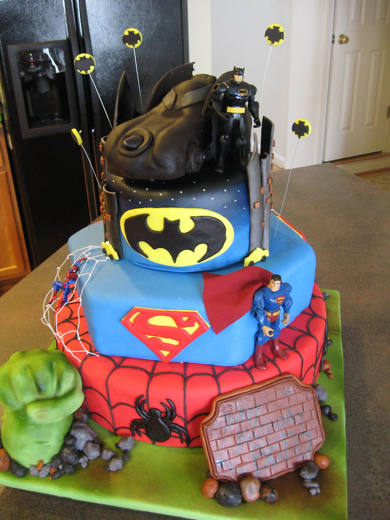 Superheroes Cake The Hulk Spiderman Superman Batman Flickr