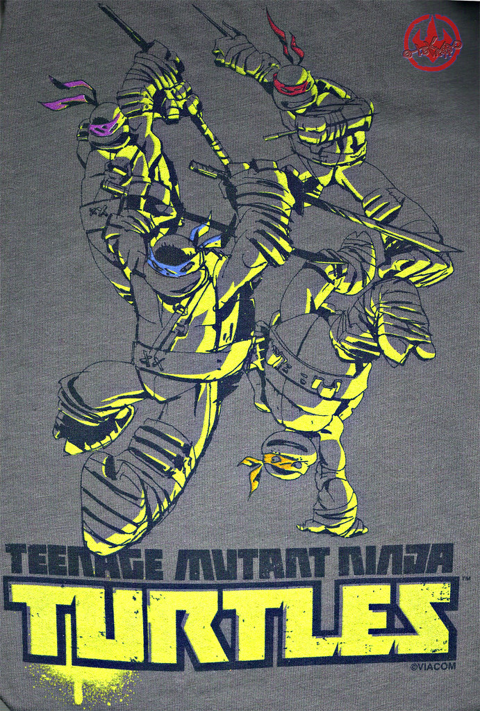 """Nickelodeon TMNT Fan Preview; """"FOUR BROTHERS PIZZA"""" // Nick TMNT Preview 'Sketch' t-shirt iii (( 2011 )) by tOkKa"""