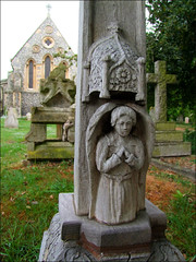 carved 1920s angel