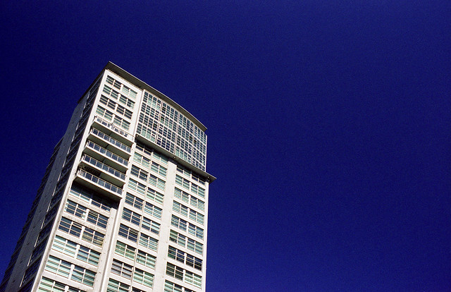 Condo Tower and the Sky