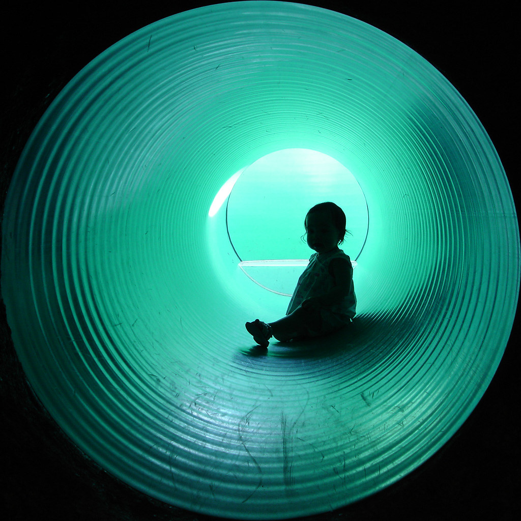 Turquoise Tunnel Silhouette