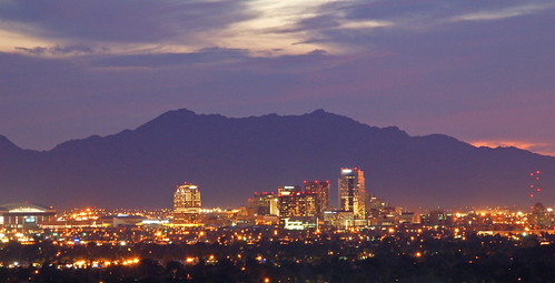 sunset arizona phoenix skyline downtown metro dusk nowpubliccom