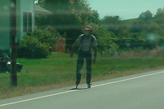 Random Rollerblading Amish Man   by Darcy Johnson