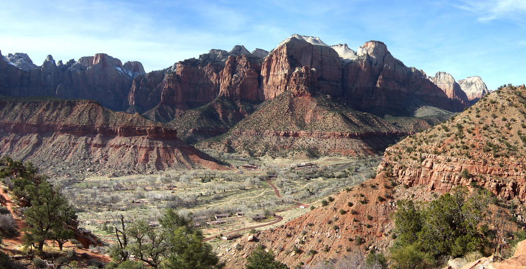Watchman trail in Zion National Park Utah