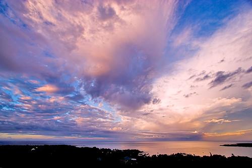 pink blue sky sunrise hawaii bay interestingness bigisland kealakekua kona 19286