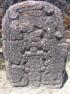 Monte Alban glyph of a rival leader having his testicals...removed | by Big Dubya