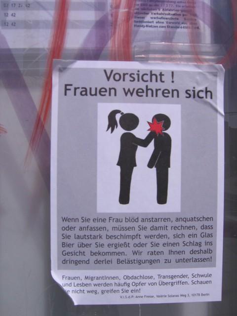 Caution! Women resisting