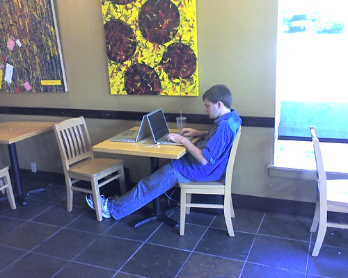 Hard at work at Northwest   by gserafini