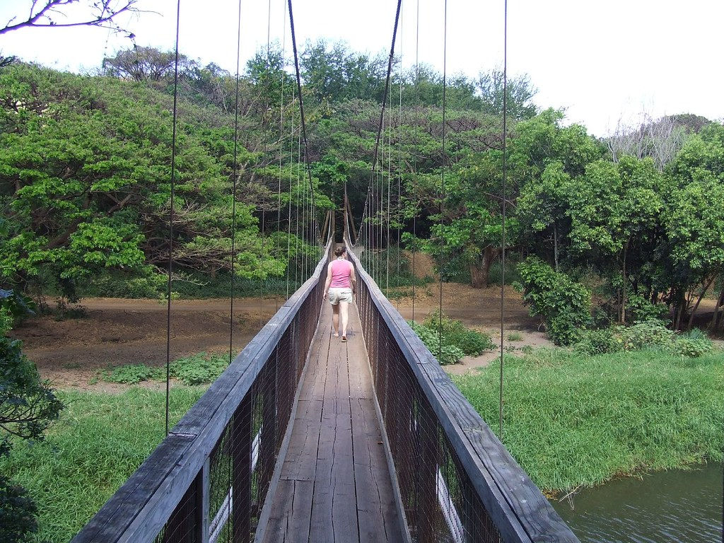 Waimea Swinging Bridge Kauai Flickr Photo Sharing