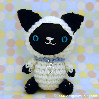 Amazon.com: Crochet Amigurumi Siamese Cat Plush Stuffed Animal ... | 400x400