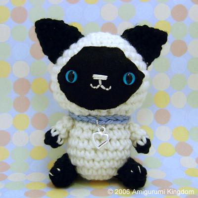 Amazon.com: Crochet Amigurumi Siamese Cat Plush Stuffed Animal ... | 400x400