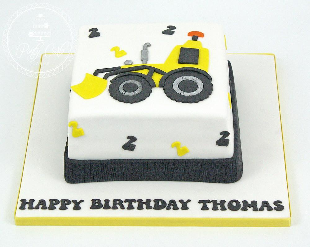 Enjoyable Tractor Digger Birthday Cake Birthdaycake Cake Digge Flickr Funny Birthday Cards Online Necthendildamsfinfo