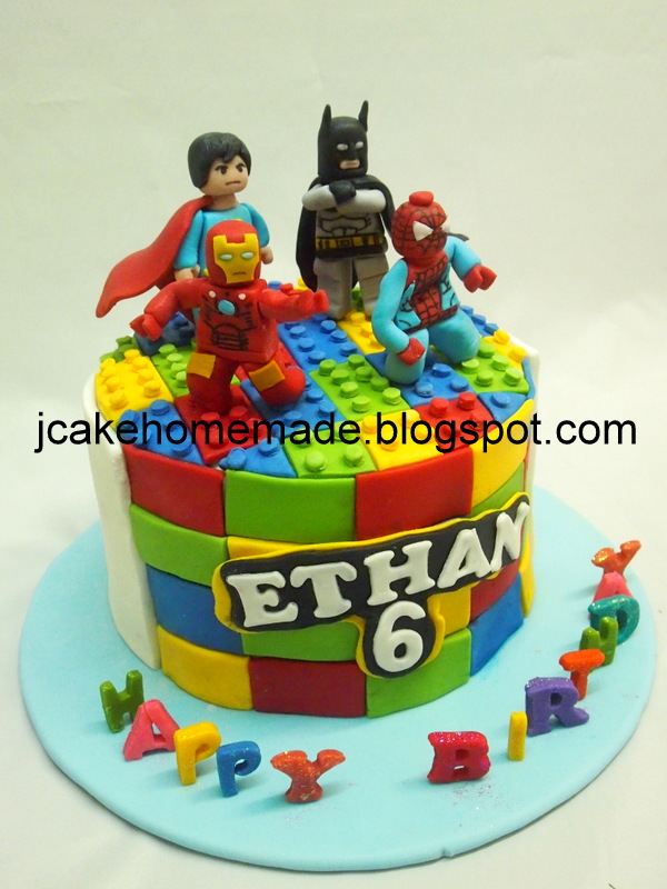 Prime Lego Superhero Birthday Cake Happy 6Th Birthday Ethan Personalised Birthday Cards Rectzonderlifede