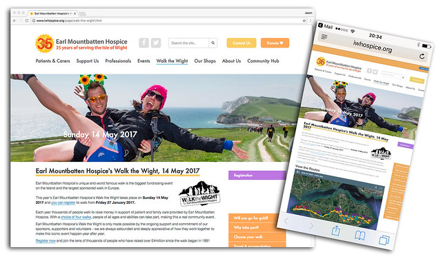 Earl Mountbatten Hospice's Walk the Wight