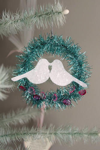 Kissing Doves Valentine's Day Ornament | by Alanna George