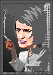 Ayn Rand | by DonkeyHotey