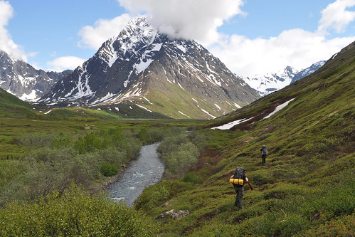 Peters Creek backcountry beneath Mt. Rumble. Chugach Mountains, Alaska | by Paxson Woelber