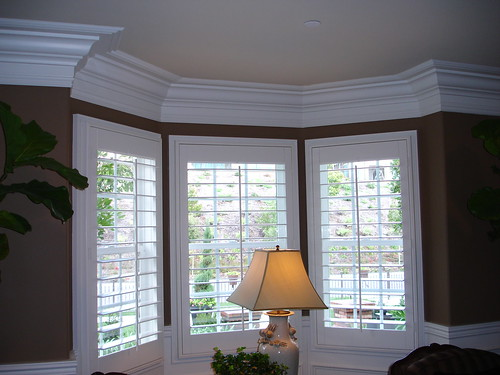 crown-molding-by-bay-window | by The Finishing Company Richmond Va