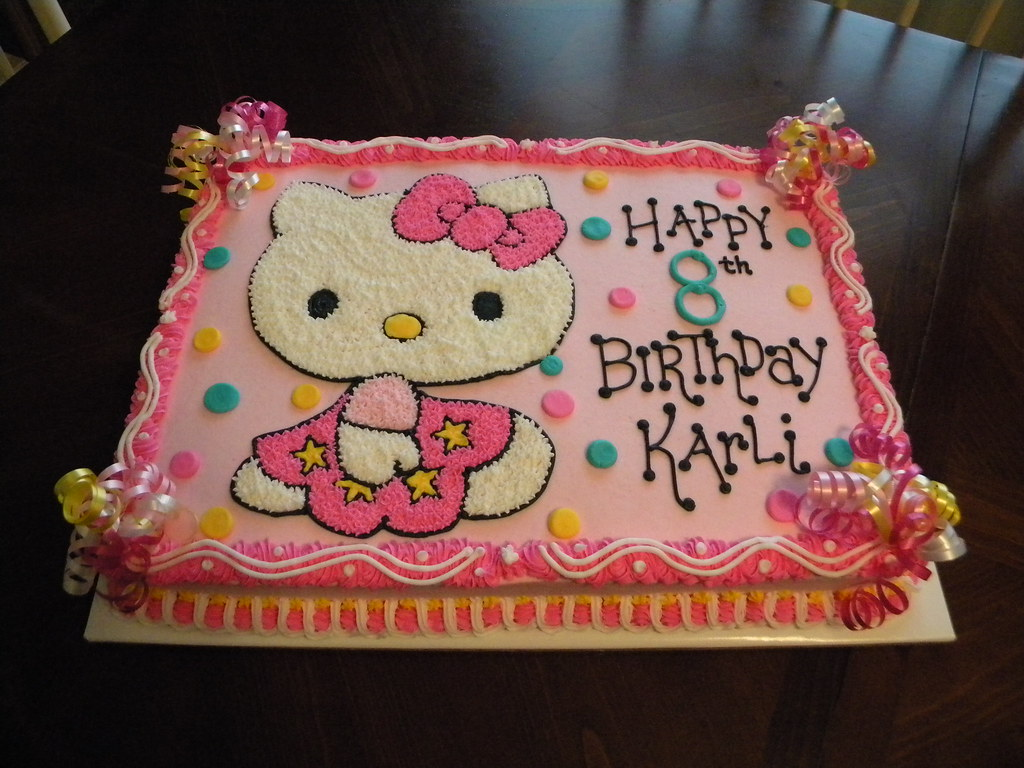 Outstanding Hello Kitty Birthday Cake Jennifer Flickr Personalised Birthday Cards Cominlily Jamesorg