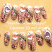 Hime gyaru pink deco nail art, Minako
