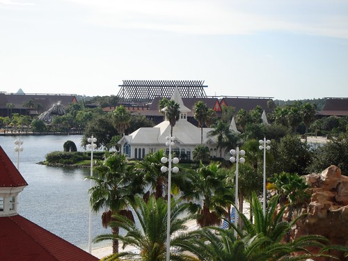 View of Wedding Pavillion over to Polynesian from the Grand Floridian | by AmyMcHodges
