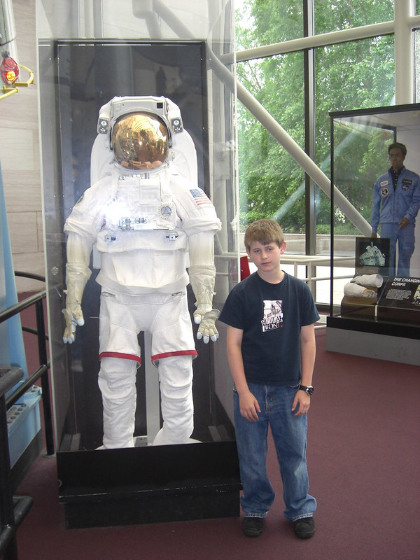 jon and an apollo 13 space suit