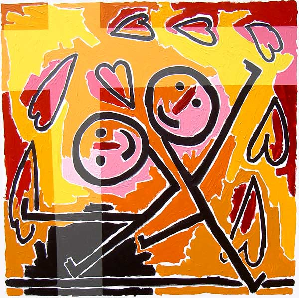the kiss happy paintings