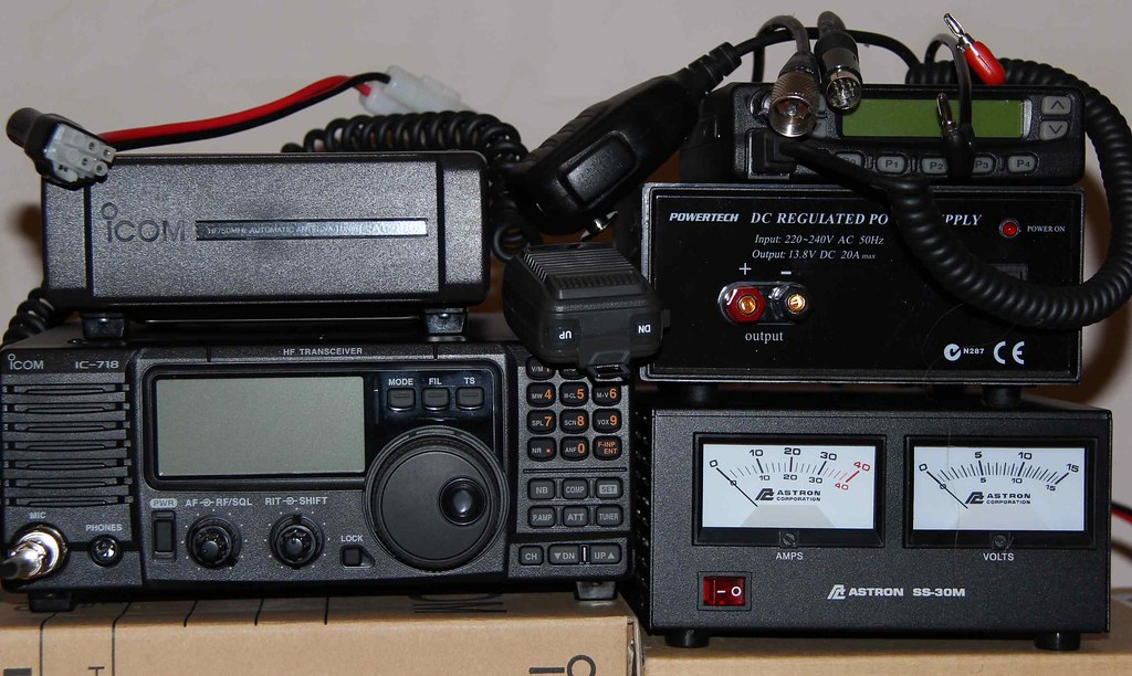 ic-718, F521, AT-180, Astron SS-30m, Powertech 20amp, Icom… | Flickr