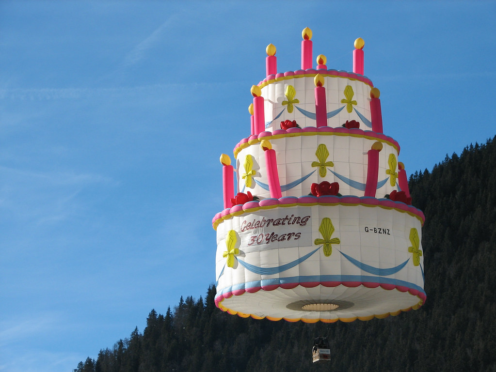 Outstanding Birthday Cake Hot Air Balloon In Chateau Doex Switzerland Flickr Funny Birthday Cards Online Necthendildamsfinfo