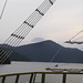 Pirátem na jezeře Ashi, v pozadí posvátná hora Fuji, foto: Vladimír Šťastný