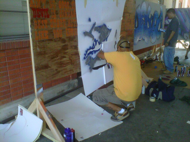 Graffiti Wars 2001 Mcallen Tx.  Me doin work.