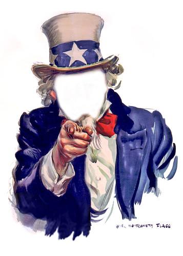 Uncle Sam I Want You - Poster, Faceless   by DonkeyHotey