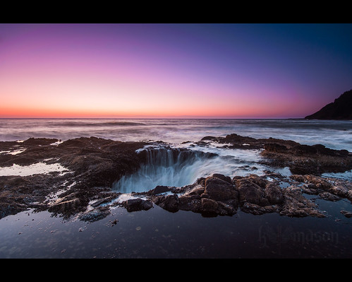 ocean sunset seascape water rock oregon landscape coast waves pacific or well filter lee yachats capeperpetua thors singhray cookschasm thorswell nikonafsnikkor1635mmf4gedvr