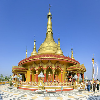 the Burmese golden stupa | by Magalie L'Abbé