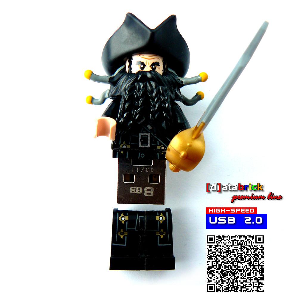 Handmade usb flash drive in Lego minifigure evil pirate | Flickr