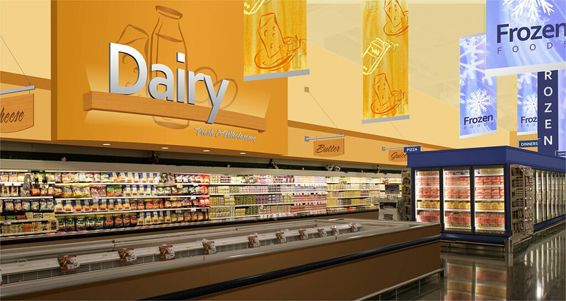 Grocery Store Design | Dairy Area Design  | Grocery Store Upgrade