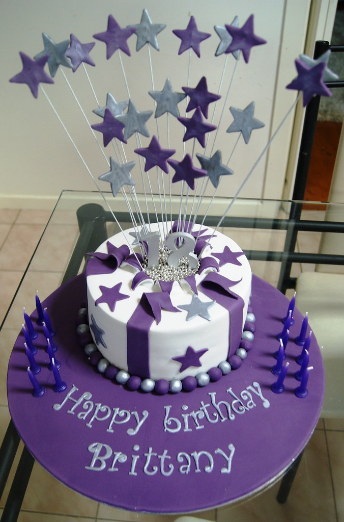 Exploding 18th Birthday Stars Cake