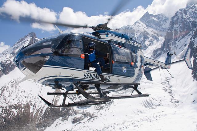 Exercice secours en crevasse - Massif du Mont-blanc