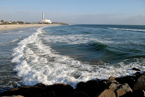 Big Waves at the Agua Hedionda Breakwater,  Carlsbad CA