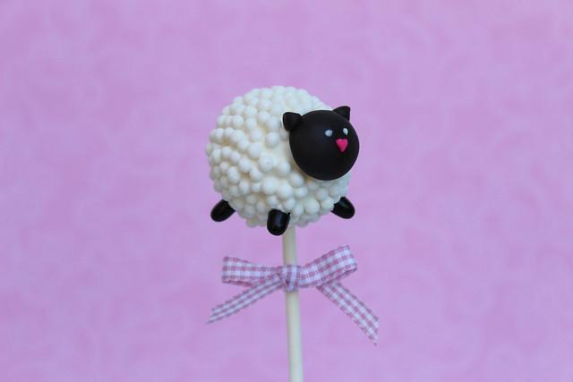 sheep cake pop