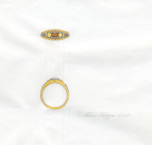 Ring design drawing