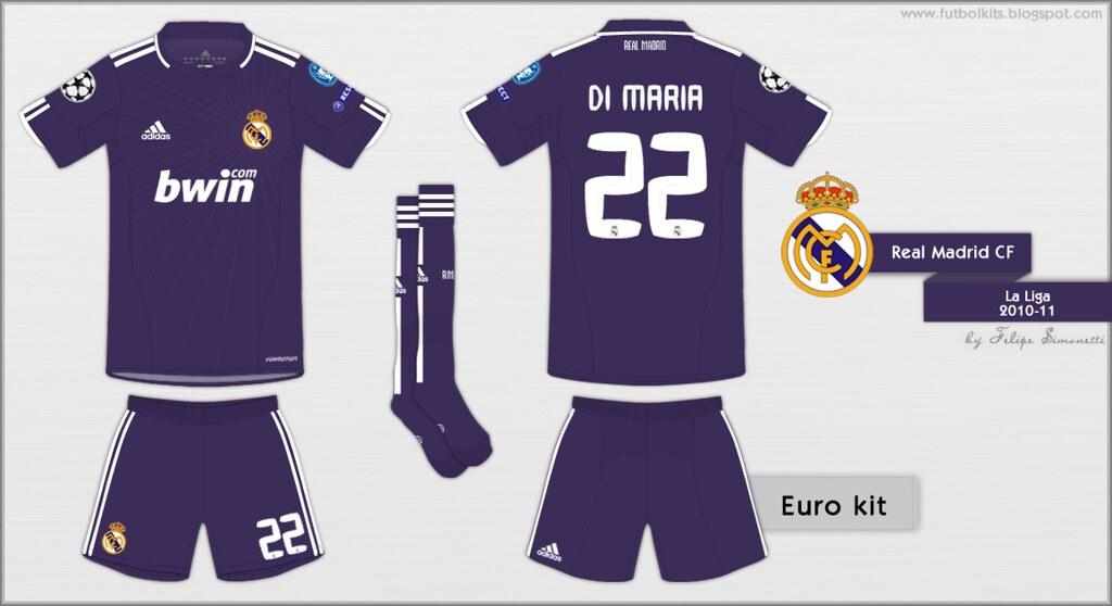 0ec58065c ... Real Madrid CF - Champions League 2010 11 away kit