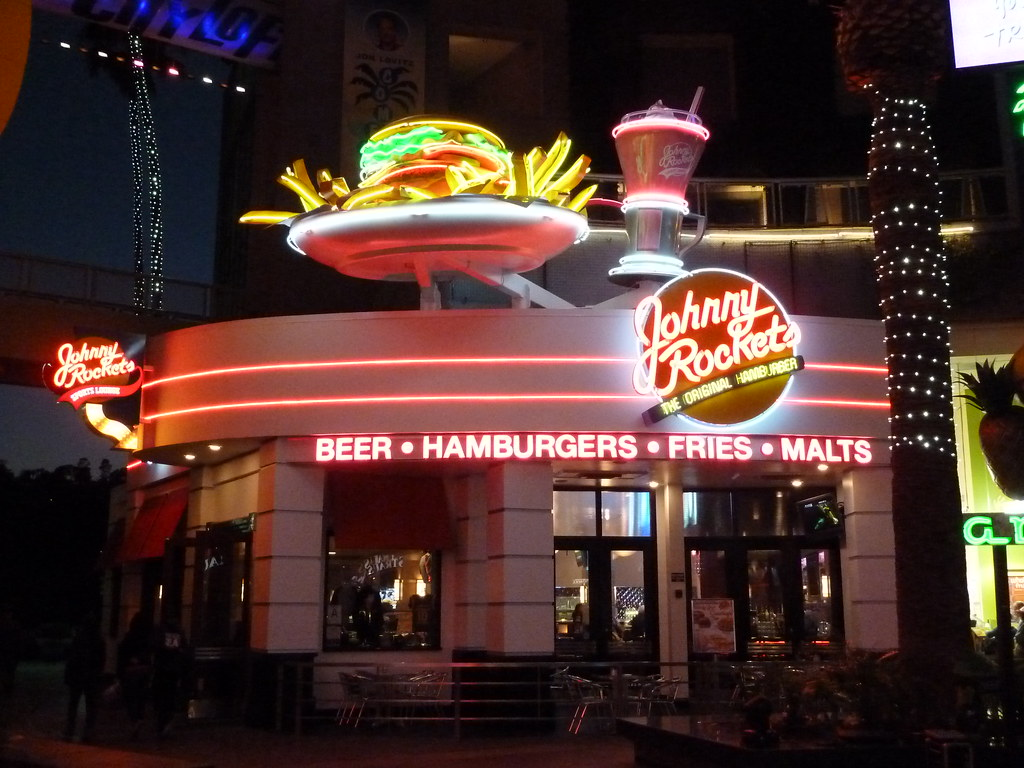Johnny Rockets Restaurant Universal Citywalk Hollywood A
